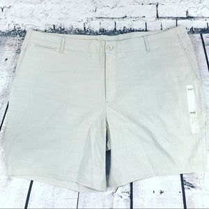 Calvin Klein Gray Chino Flat Front Shorts Size 40